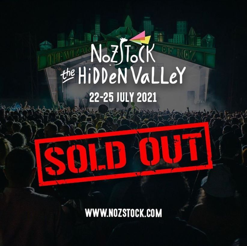 Nozstock's 2021 event sold out following the government's announcement on 22/02/2021