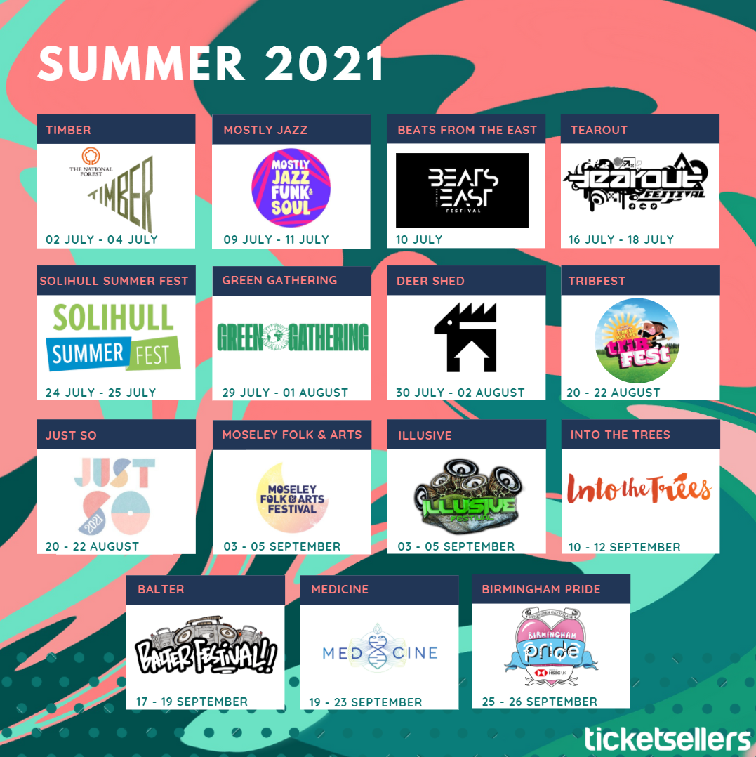 Summer 2021 calendar of events still available to purchase tickets for